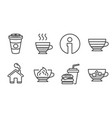 cafe creme cappuccino and hamburger icons vector image