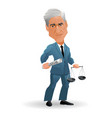 caricature special counsel robert mueller vector image vector image