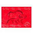 chinese new year 2021 background ox bull cow vector image vector image