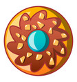 choco flower biscuit icon cartoon style vector image
