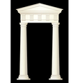 classic columns drawing vector image vector image