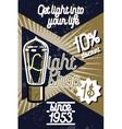 Color vintage lighting shop poster vector image vector image