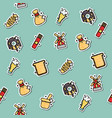 colored wheat concept icons pattern vector image