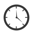 colorful clock with time graphic vector image
