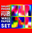 colorful gradient texture wallpaper templates vector image vector image