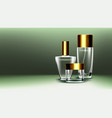 cosmetic glass product fragrance collagen vector image vector image