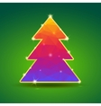 creative bright christmas tree with gold vector image vector image