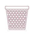 dark red line contour of office trash can vector image