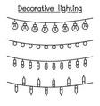 decorative lighting graphic design vector image vector image