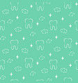 dental seamless pattern with teeth and vector image