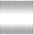 Dotted Black Background Halftone Pattern vector image