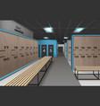 empty locker room vector image