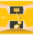 Flsmartphone processing of mobile payments vector image vector image
