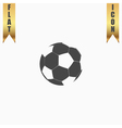 Football ball - soccer flat icon vector image vector image