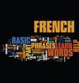 free and easy basic french text background word vector image vector image