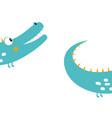 funny kids print crocodile vector image