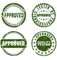 Green Stamp - approved vector image vector image