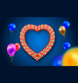 heart frame with balloons vector image