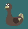 icon in flat design toy duck vector image vector image