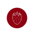 Icon Strawberry in the Contours vector image vector image