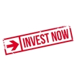 Invest now stamp vector image vector image