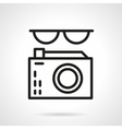 Journalist black line abstract icon vector image