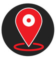 location icon on white background flat style vector image vector image