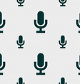 microphone icon sign Seamless pattern with vector image vector image