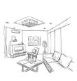Modern interior room sketch vector image