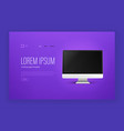 modern trendy landing page with sample text and vector image vector image
