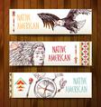 native american vector image vector image