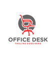 office chair table furniture logo vector image vector image