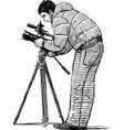 photographer at work vector image vector image