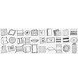 pillows hand drawn doodle set vector image vector image