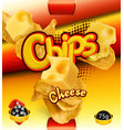potato chips cheese flavor design packaging 3d vector image vector image