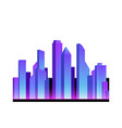 realistic neon city icon vector image
