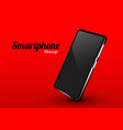 realistic smartphone mockup cellphone frame vector image vector image