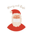 santa claus wearing protective face mask against vector image vector image
