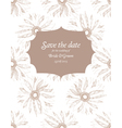 save date wedding invitation card vector image vector image