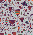 Seamless handwork floral pattern with colorful vector image