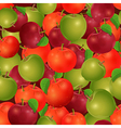 seamless texture of apples vector image vector image