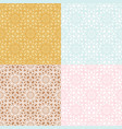 set four seamless geometric patterns vector image vector image