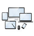 Set of modern digital devices vector image vector image