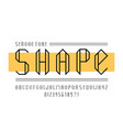 shape stroke font alphabet vector image vector image