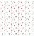 summer floral seamless pattern with red and green vector image vector image