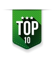 Top Ten ribbon vector image vector image