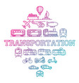 transport with gradient outline icons vector image vector image