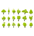 Trees With Weird Shape Crown Set vector image vector image