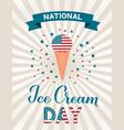 usa national ice cream day retro patriotic poster