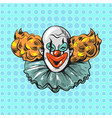 vintage clown pop art comic style poster vector image vector image